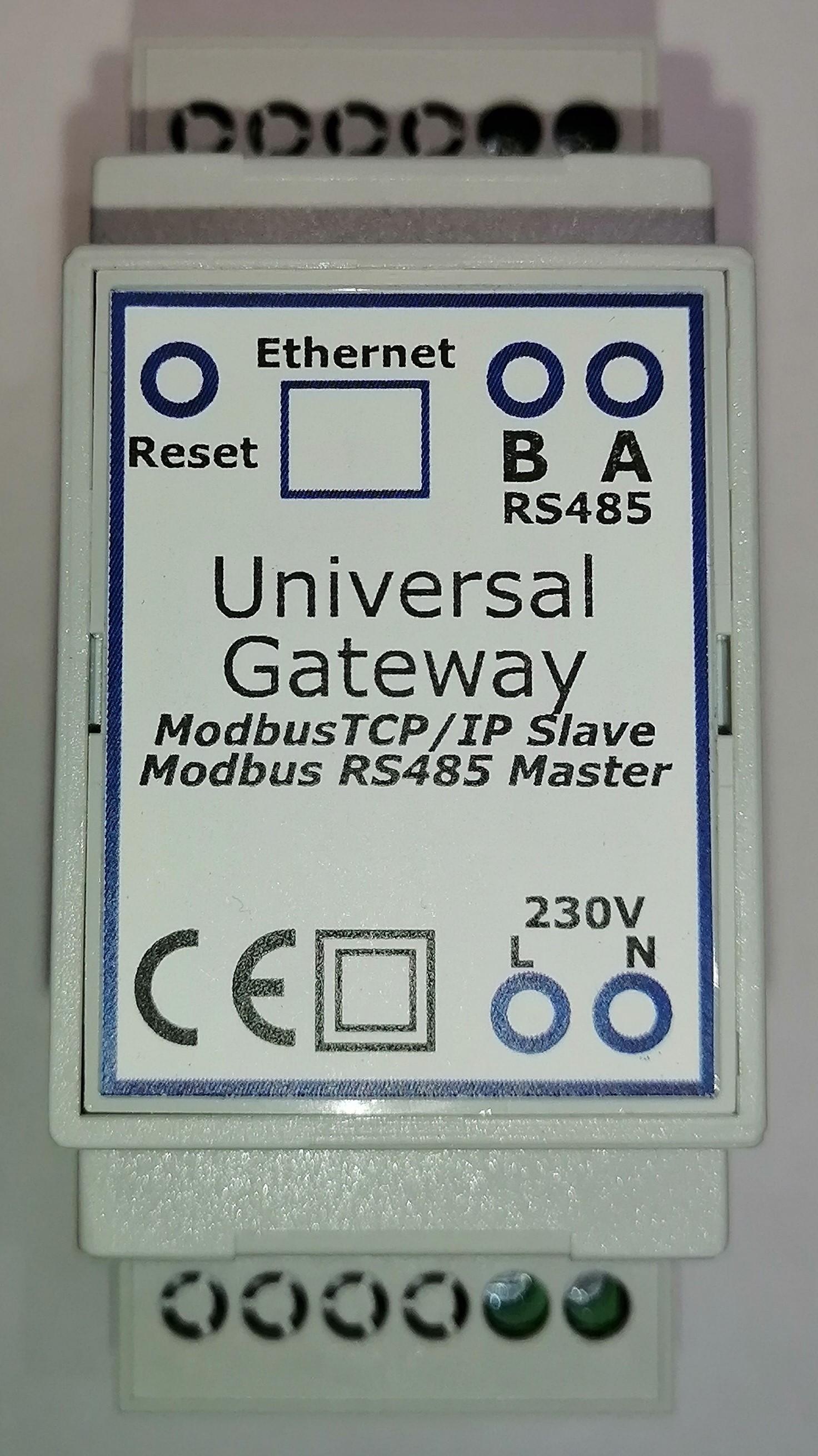 Gateway Modbus TCP/IP für SDM630 Zähler