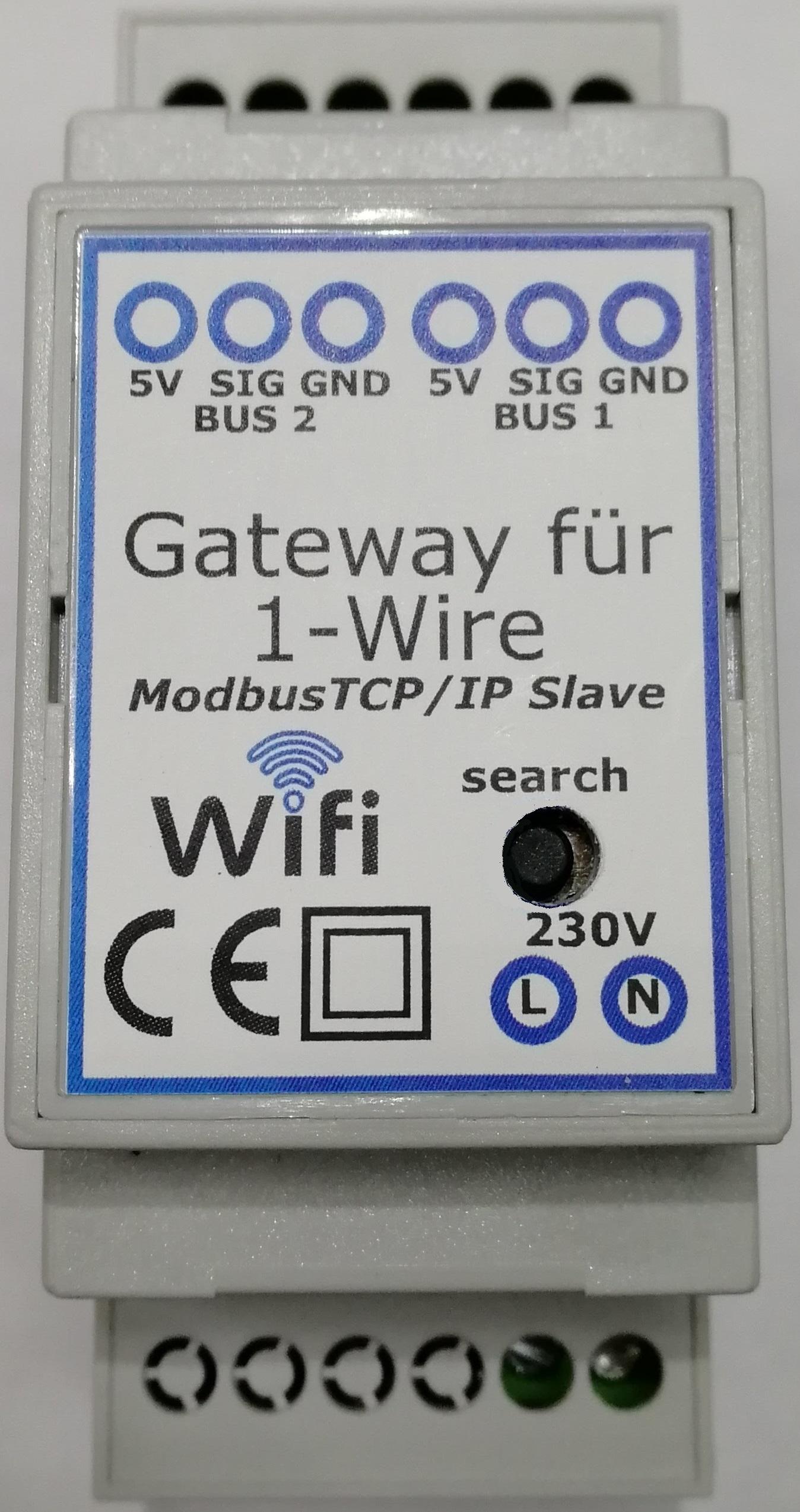 Gateway Modbus TCP/IP für 1-Wire